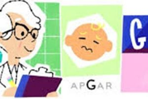 Dr. Virginia Apgar 109th Birthday celebrated by Google Doodle