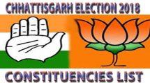 Chhattisgarh Election 2018 Constituencies List