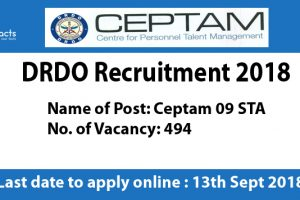 DRDO Recruitment 2018 – Apply Online, Eligibility Criteria and Application Fees