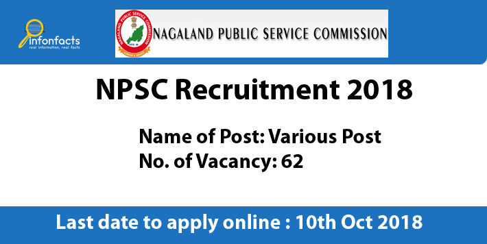 NPSC Recruitment 2018 – Apply Online, Eligibility Criteria and Application Fees