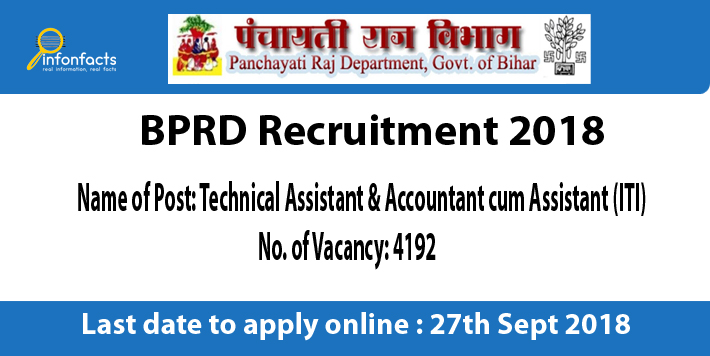 BPRD Recruitment 2018 – Apply Online, Eligibility Criteria and Application Fees