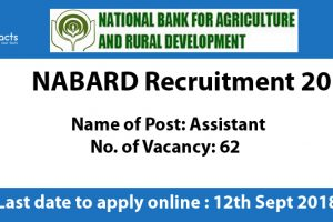 NABARD Recruitment 2018 – Apply Online, Eligibility Criteria and Application Fees