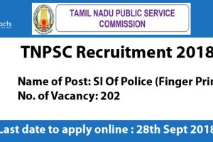 TNPSC Tamil Nadu Recruitment 2018 – Apply Online, Eligibility Criteria and Application Fees
