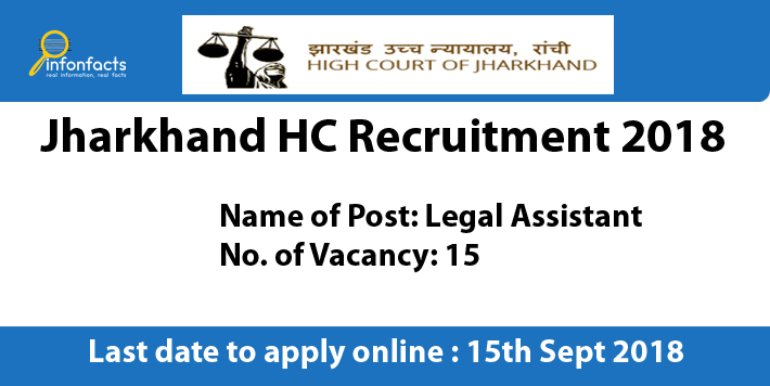 Jharkhand HC Recruitment 2018 – Apply Online, Eligibility Criteria and Application Fees
