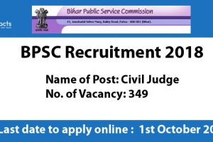 BPSC Civil Judge Recruitment 2018 – Apply Online, Eligibility Criteria and Application Fees