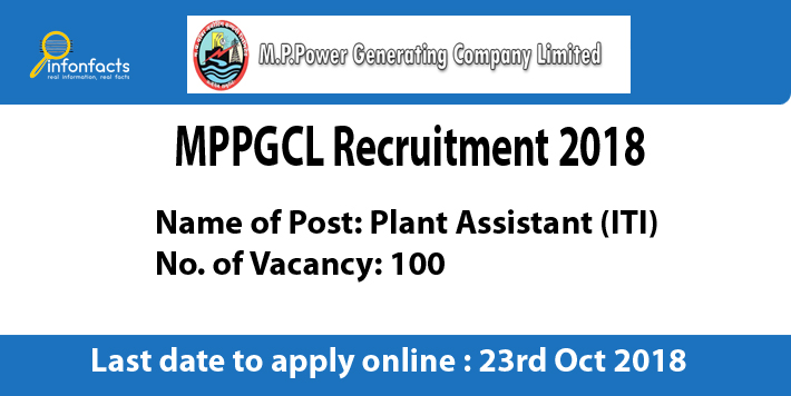 MPPGCL Plant Assistant (ITI) Recruitment 2018 – Apply Online, Eligibility Criteria and Application Fees