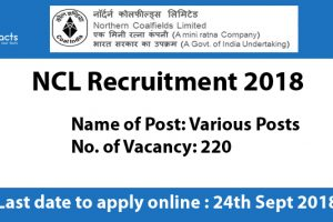 NCL Recruitment 2018 – Apply Online, Eligibility Criteria and Application Fees